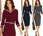 Gifts She'll Adore Vintage Lady Celebrity Evening Work Party Pencil Midi Dresses