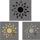 1PC Luxury 3D Sunflower Home Decor Bell Cool Mirrors Wall Stickers Tide