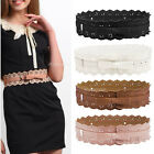 Woman Lady Elegant Leather Hollow Flower Lace Waist Belt Waistband