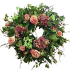 Unique Combination Natural/silk Manzanita Branch Wreath Hydrangea, Garden Rose