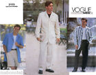 Vogue 2103 Men's Loose-fit Jacket in 2 Views, Shorts & Pants Sewing Pattern OOP