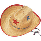Child Straw Cowboy SHERIFF HAT Costume Accessory