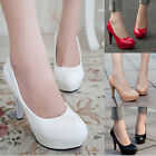 Stylish Women's Wedding Party High Heels Platform Shoes Club Stiletto Sexy Pumps