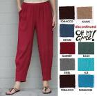 OH MY GAUZE Cotton DART Tapered Crop Pants 1 (S/M) 2 (M/L) 3 (XL/1X) DISC. STYLE