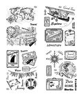VIVA DECOR Clear Stamps MY PAPER WORLD Silikon Stempel STEAMPUNK Urlaub REISE