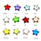 10PCS Lucky Star Birthstone Crystal Charm Designs Floating Charm Locket Necklace