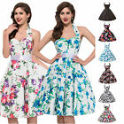 Housewife Vintage Style 1950's 60s Swing Party Pinup Rockabilly Short Prom Dress