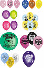 6 LATEX PARTY BALLOONS - LICENSED CHARACTER DESIGNS(Birthday Decorations){Set C}