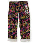 Aeropostale Womens Rainbow Animal Print Aero Pajama Lounge Pants