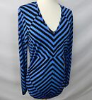 ETCETERA STRETCH JERSEY KNIT STRIPED FITTED TUNIC TOP SHIRT size S / L NEW $155