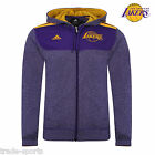 adidas ESSENTIALS MENS LA LAKERS HOODY UK SIZE S M L PURPLE OFFICIAL FZ SWEAT