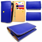 SLIM Dark Green Wallet Universal Leather Pouch Cover Case For Kyocera Phones