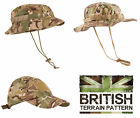 US & British Army Military Jungle Wide Boonie Sun Bush Hat Combat BTP Camo New