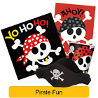 PIRATE FUN Birthday PARTY (Skull & Crossbones) Tableware Supplies & Decorations