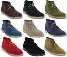 New Womens Roamers Classic Leather Real Suede Lace Desert Ankle Boots Size 3-8