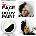 FOOTBALL FAN PACK WIG AND FACE PAINT FACEPAINT FANCY DRESS BLACK WHITE
