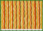Wilmington POPPIES GREEN & ORANGE STRIPES Cotton Quilting Sewing Fabric 2-3 yds