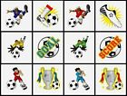 24 FOOTBALL Party Pack of Children's Temporary Tattoos