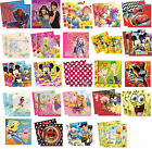 20 PARTY NAPKINS - Range of LICENSED CHARACTER DESIGNS (Birthday Supplies)(Set5)