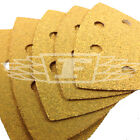 5 PACK DELTA DETAIL SANDER SHEETS YELLOW ALUMINIUM OXIDE COARSE SANDING 742107