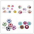 50/250pcs Wooden Sewing on Buttons Bulk Mixed Color Patterns Embellishments LC