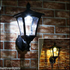 SOLAR POWERED 6 LED OUTDOOR GARDEN MOUNTABLE WALL LANTERN LAMP SECURITY LIGHT