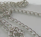 Jewellery Design - Chain Findings 5mm x 4mm Silver Plated Charm Chain Link Mtr