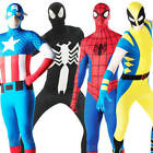 Marvel Superhero Adults Fancy Dress 2nd Skin Bodysuit Comic Book Mens Costume