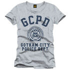 Batman T-Shirt Gotham City Police Department Logo (grau) S M L