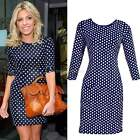 Sexy Women Polka Dot Bodycon Slim Party Evening Shift Pencil Dress Top Skirt B20