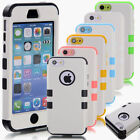 Hybrid Rubber Soft Silicon Glossy Hard Case Cover For Apple iPhone 5C+Protector