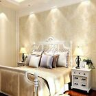 10M Modern Luxury 3D Non-woven Embossed Textured Wallpaper Roll  4 Colors U Pick