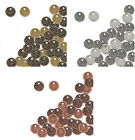 100 Coin Drops Antiqued Copper Gold Silver Plated Brass 7mm Jewelry Crafts fnt