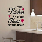 Hot Selling Wall Sticker Art Decor Decal Kitchen Is The Heart Of The Home 1533