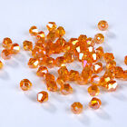 100/1000pcs Fashion DIY jewelry 3/4mm Glass Crystal 5301 Bicone Beads Orange AB