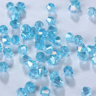 Fashion DIY jewelry 3/4mm100/1000pcs Glass Crystal #5301 Bicone Bead sky blue AB