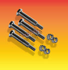 "4 Wheel Shoulder Bolts  Sizes 2 1/2"", thru 4 Locking Nuts Included"