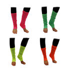 BRIGHT NEON LEG WARMERS 1980S DISCO FANCY DRESS ACCESSORY UV DANCE ANKLE WARMERS