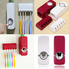 Home Bathroom Auto Toothpaste Dispenser Squeezer Brush Holder Wall Mount Useful