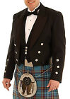 MENS BLACK PRINCE CHARLIE KILT JACKET WITH COATEE VEST