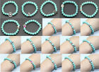 Fashion Exquisite Girl Elasticity turquoise various styles alloy bead Bracelet