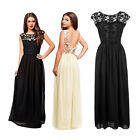 Fashion Women Formal Long Lace Prom Party Bridesmaid Wedding Maxi Backless Dress