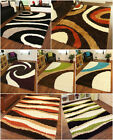 Extra Thick SOFT Shaggy Modern Design Mats Non Shed REDUCED Living Room Rugs UK
