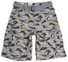 NEW LEVI'S MEN'S PREMIUM COTTON RELAXED CARGO SHORTS WITH BELT CAMO 1366130005