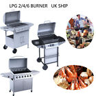 6/ 4/2Burner UK-Grille Stainless Steel BBQ Outdoor Barbeque Gas Kitchen UK Stock
