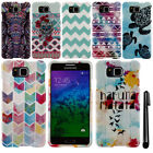 For Samsung Galaxy Alpha G850 Turtle Aztec PATTERN HARD Case Phone Cover + Pen