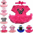 Toddle Baby Infant Clothes Dress Girl Minnie Mouse Tutu Newborn Romper+Headband