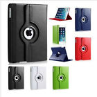 For Apple iPad Air 2 360 Rotating PU Leather Folio Case Cover Stand Smart Cover