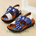 Kids Summer Leather Sandal Toddlers Girls Boys Letter Stars Slippers Beach Shoes