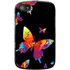 Rainbow Paint  Splash Butterflies Hard Case For Blackberry Models